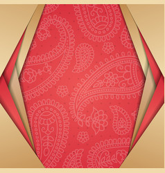 indian style background vector image