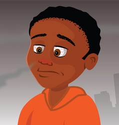 Kid with allergies vector