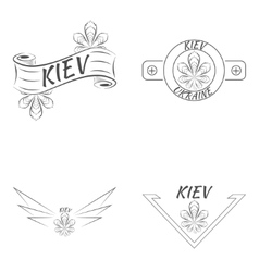 Kiev Ukraine logo design template elements vector
