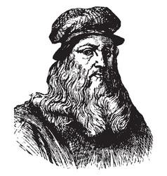 Leonardo da vinci vintage vector