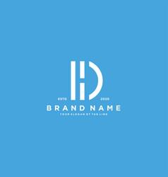 Letter dh logo design vector