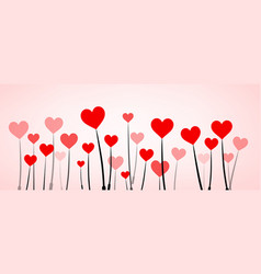 Love valentine s banner with hearts vector