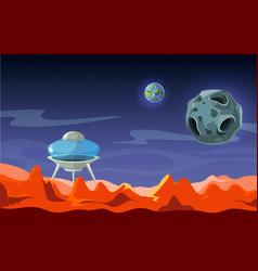 Mars landscape colonization alien space vector