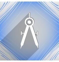 Mathematical Compass icon symbol Flat modern web vector image