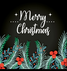 Merry chistmas decoration card to celebration vector