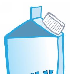 Milk cardboard packaging vector image