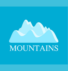 mountains in light blue vector image