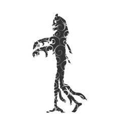 mummy halloween pattern silhouette scary monster vector image