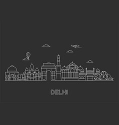 new delhi skyline vector image