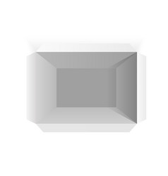 opened white paper box white mockup top view vector image