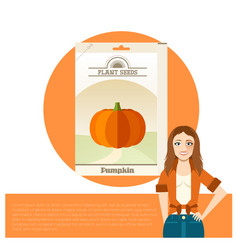 pack pumpkin seeds vector image