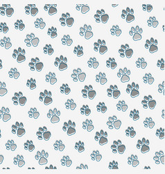 Pet paws seamless pattern vector