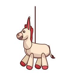 Pinata horse cartoon vector
