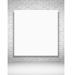 Poster on Brick Wall vector image