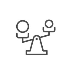 Priority selection line outline icon vector