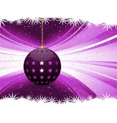 Purple bauble lantern vector