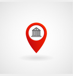 red location icon for bank eps file vector image