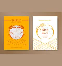 Rice product package vector
