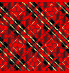 scottish cage red celtic scottish red checkered vector image