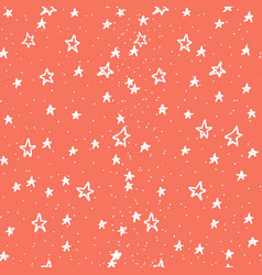 seamless abstract pattern with black stars of vector image
