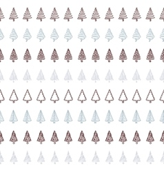 Seamless pattern and borders with hand drawn vector image