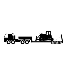 Silhouette of the tractor on the trawl vector image