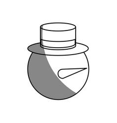 snowman cartoon icon vector image