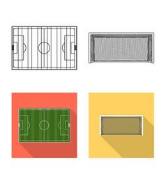 Soccer and gear logo vector
