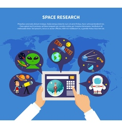 Space Research Concept vector image