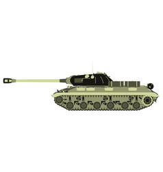 tank military war icon army vehicle flat battle vector image