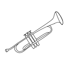 trumpet instrument icon image vector image