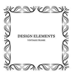 vintage frame design vector image