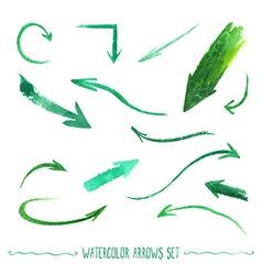 Watercolor arrows set vector