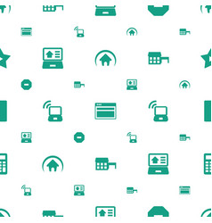 website icons pattern seamless white background vector image