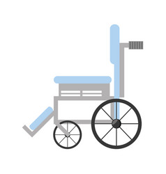 Wheelchair medical equipment icon vector