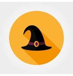 Witch hat Flat icon vector