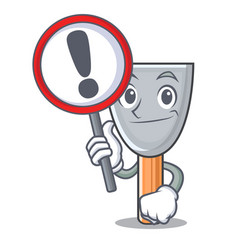 with sign putty blade character cartoon vector image