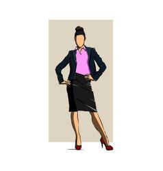 women standing cartoon character business vector image