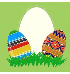 Easter painted eggs vector image