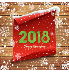 happy new year 2018 greeting card vector image vector image