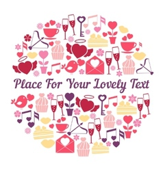 Romantic card design with space for text vector image