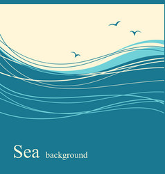 sea wave background for text vector image