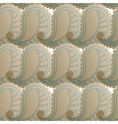 Seamless pattern with retro drawing vector image