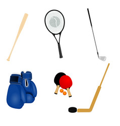 Sport inventory set vector