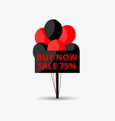 black friday sale banner notice board with black vector image