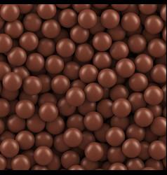 chocolate balls background vector image