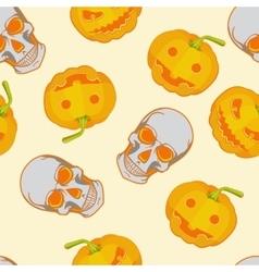Halloween seamless bright kids cartoon pattern vector