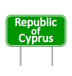 Republic of Cyprus road sign vector image vector image