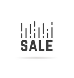 sale mark like drop in prices vector image vector image
