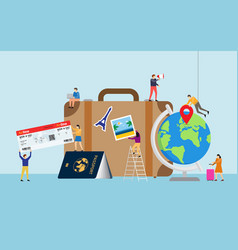 travel planning travel concept vector image